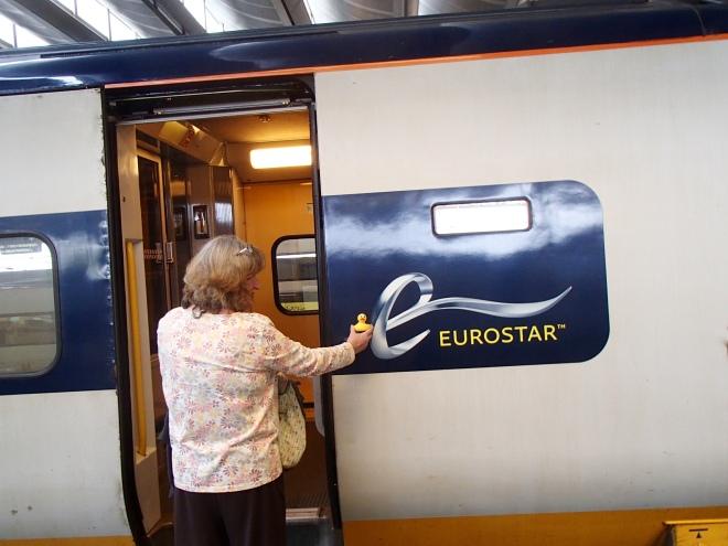 Eurostar Train heading for Brussels