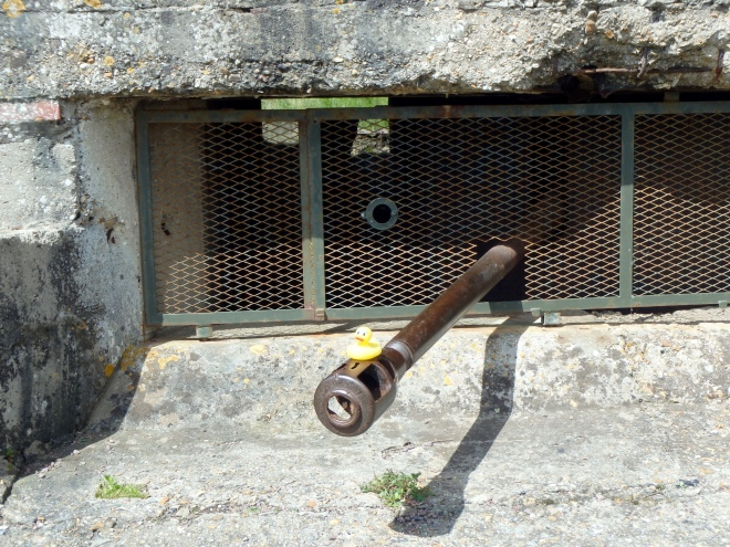 Gun in German Bunker