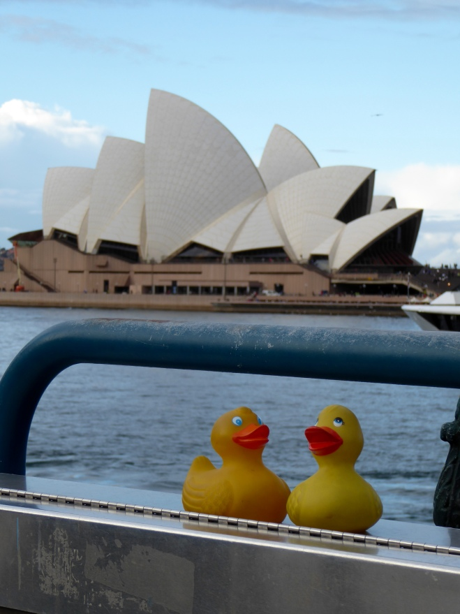 Zeb and Eider by the Sydney Opera House