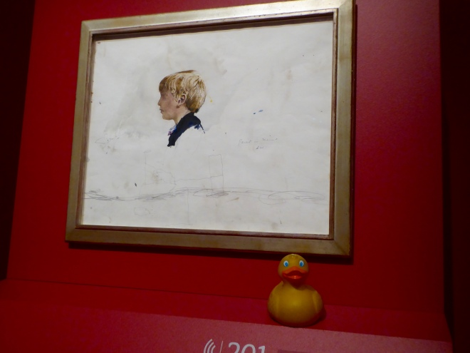 Portrait of Jamie Wyeth as a child. Painted by Andrew Wyeth, his father.