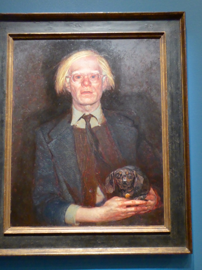 Andy Warhol and dog, Archie. By Jamie Wyeth