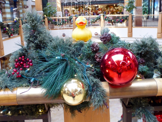 Christmas decorations everywhere. I love it!