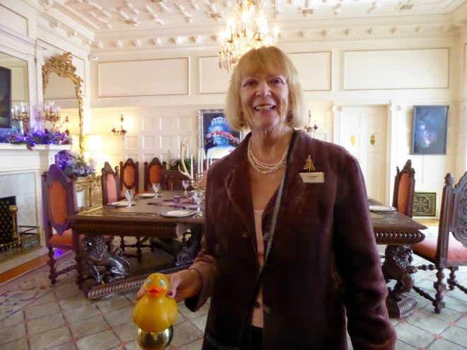 Our friend Connie in the Formal Dining Room