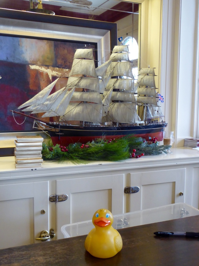 Ship in bar and gift shop