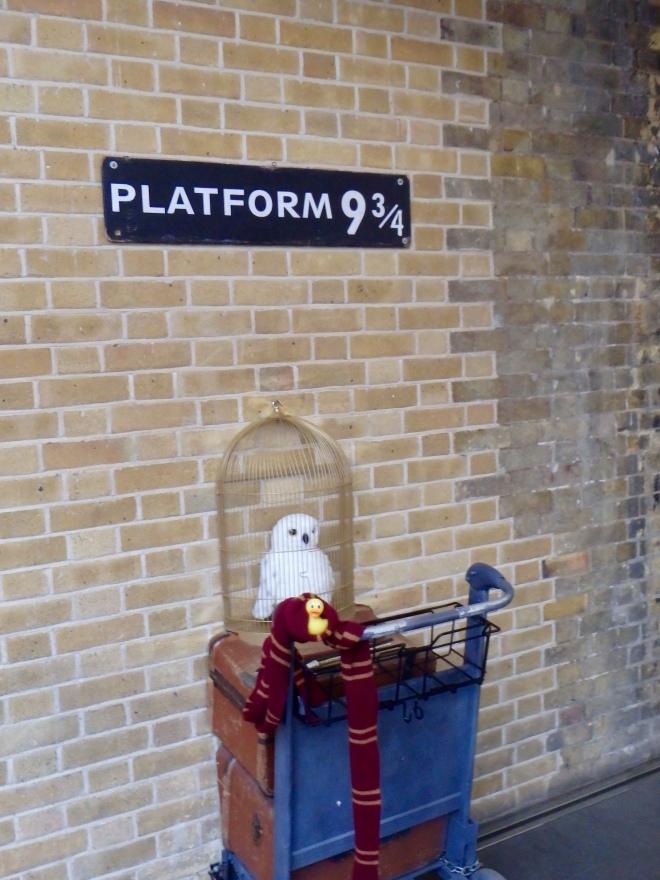 Platform 9 3/4 for Harry Potter in London
