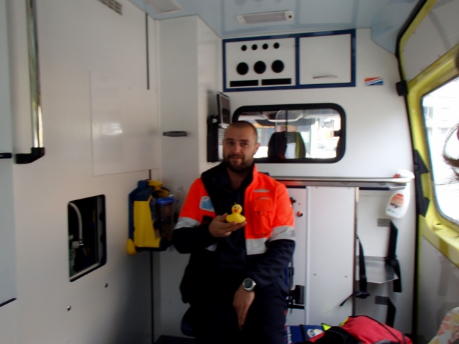 Ms. Ducky with paramedic