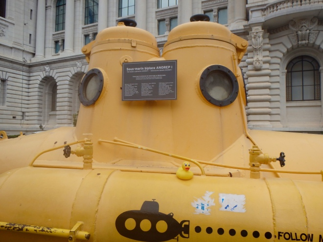 Yellow submarine in Italy