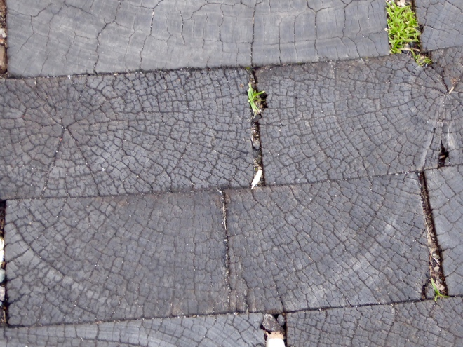 Streets made of woodblocks