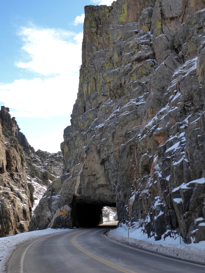 Great tunnel through the mountain