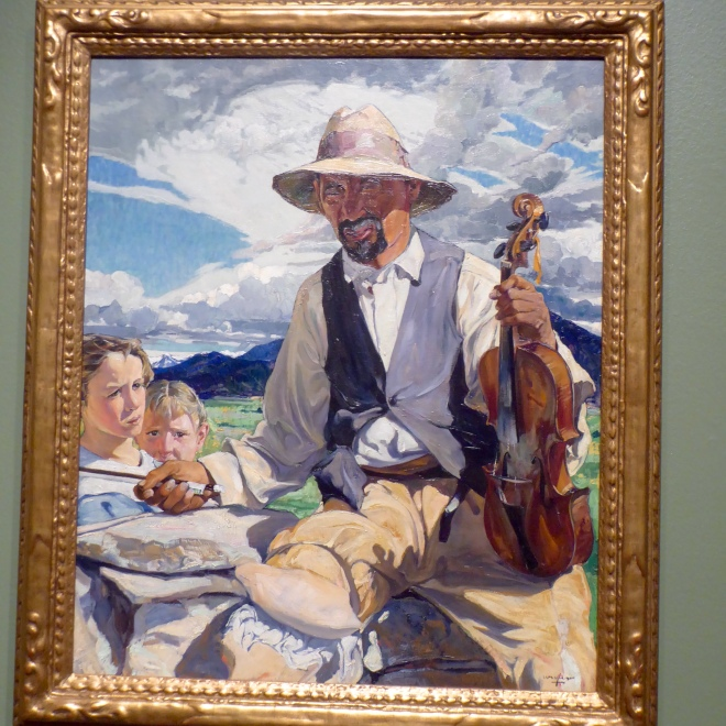 The Fiddler of Taos by Ufer
