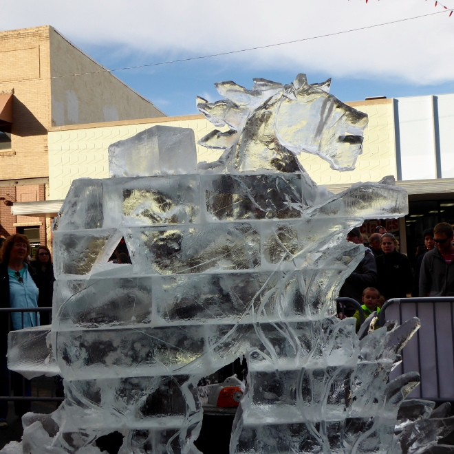 Ice sculpture in levels