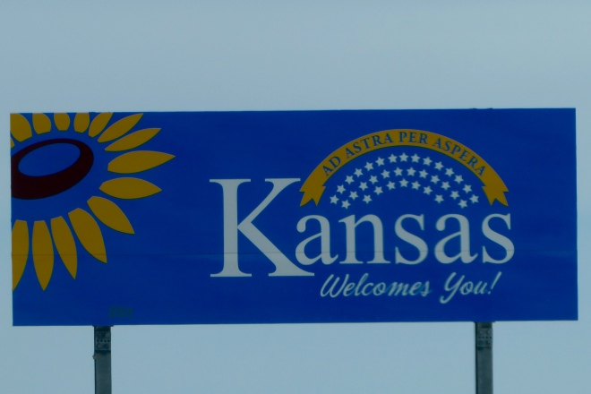 We are entering Kansas