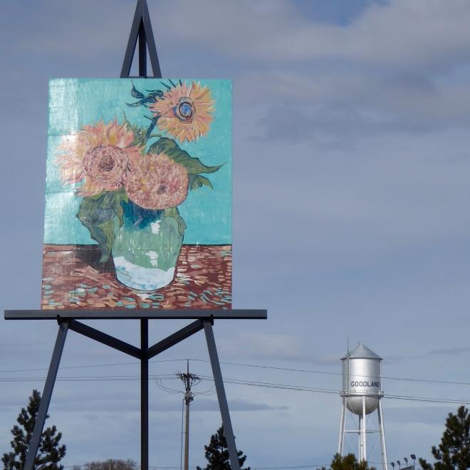 Replica of Van Gogh's Three Sunflowers in a Vase