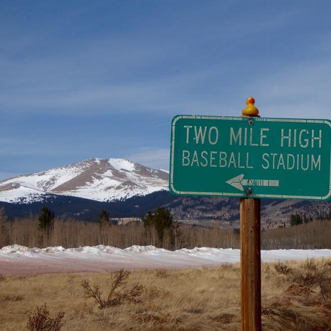 TWO mile high stadium