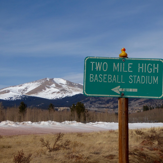 TWO mile high stadium