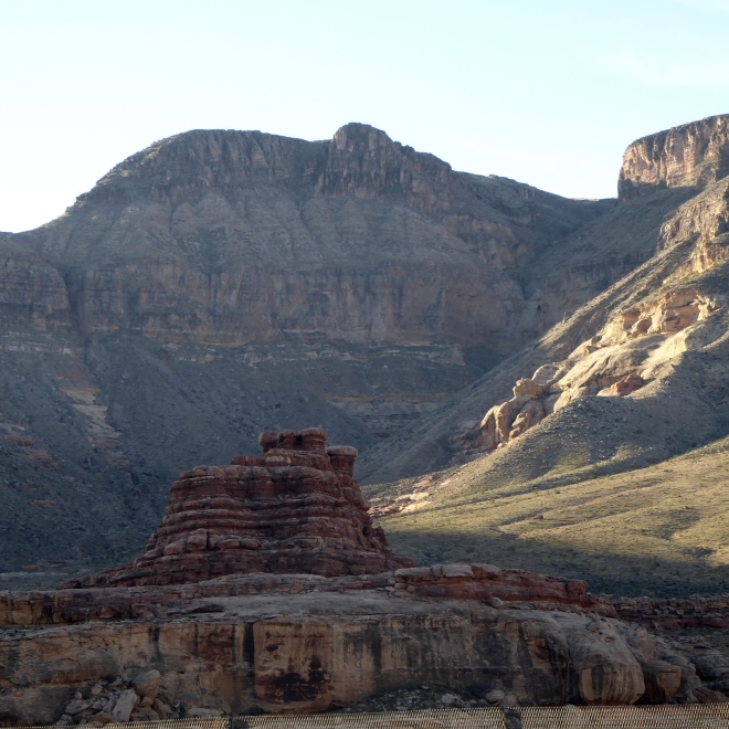 Great rock formation in rock canyon