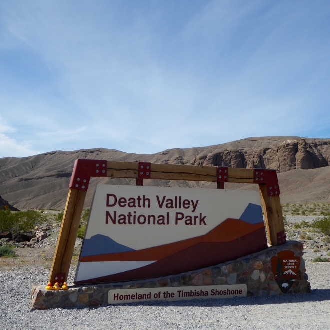 Going into Death Valley National Park