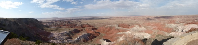 Panorama view of Painted Desert from Inn