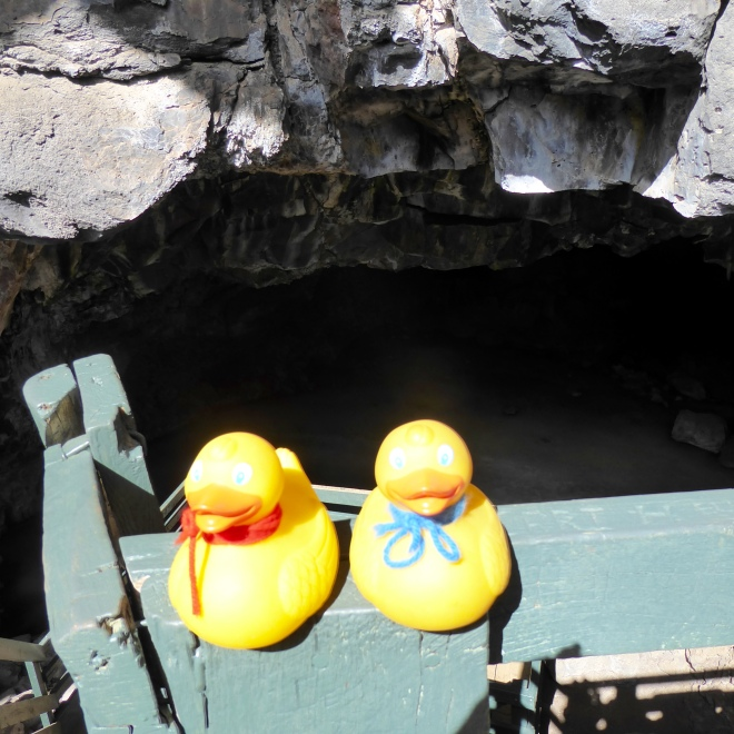 Soapy and JB Duck at the Ice Cave