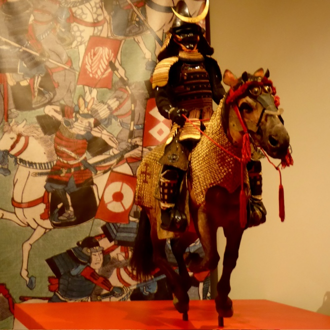 Samurai and horse with armor
