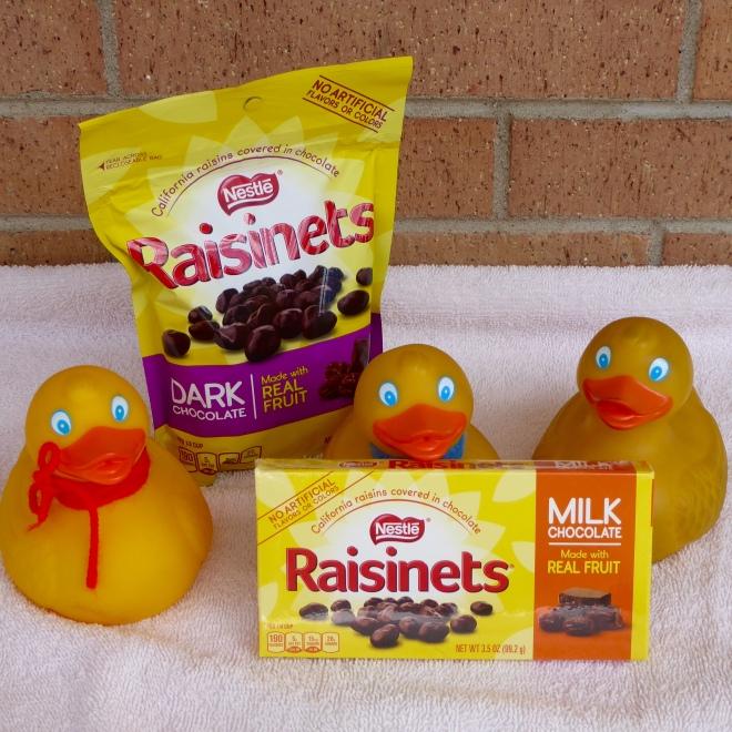 We have Raisonets with Dark Chocolate and also with Milk Chocolate. Yum!