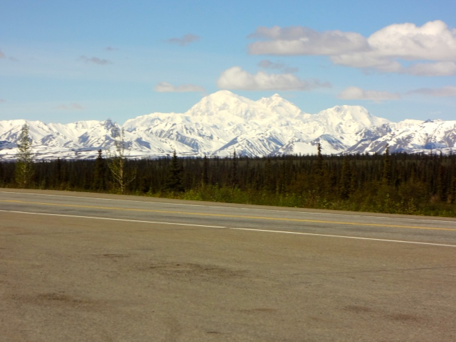 From Fairbanks heading toward Anchorage. The Brooks Range