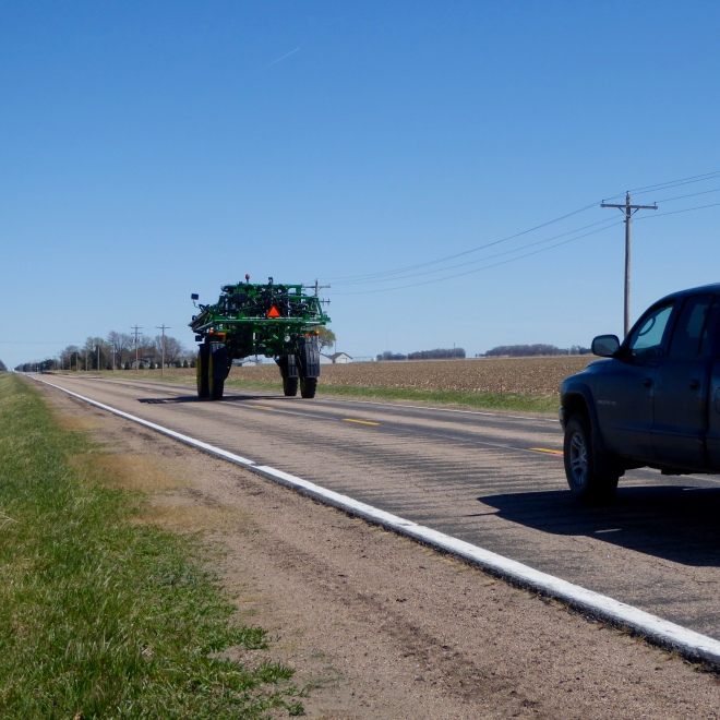 Tall piece of farm equipment