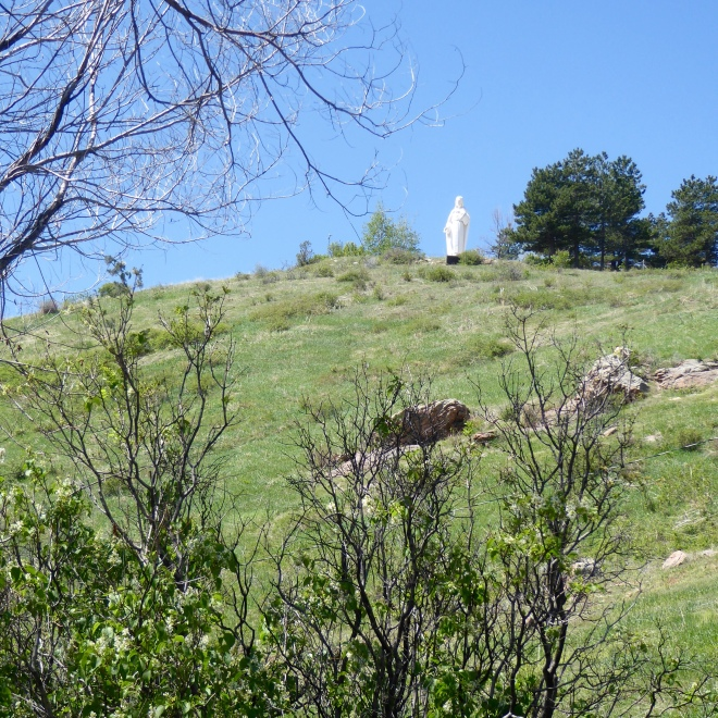 Mother Cabrini statue on mountain
