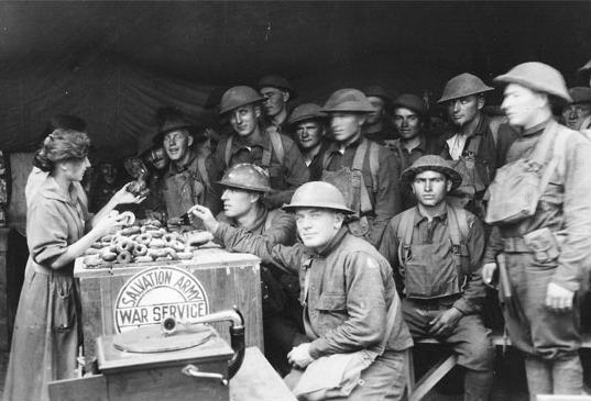 Salvation Army Doughnut Lassie of World War I