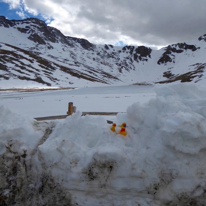 Summit Lake, still frozen