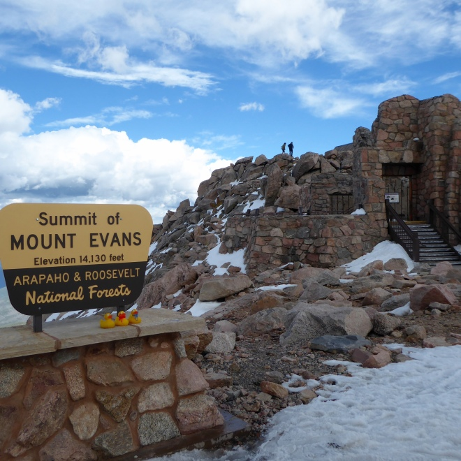 The summit of Mount Evans and the remains of Crest House