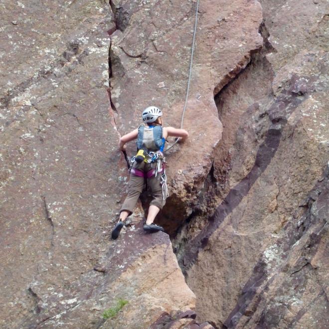 Human rock climber