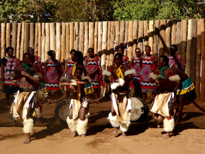 Dancers performing in Swaziland