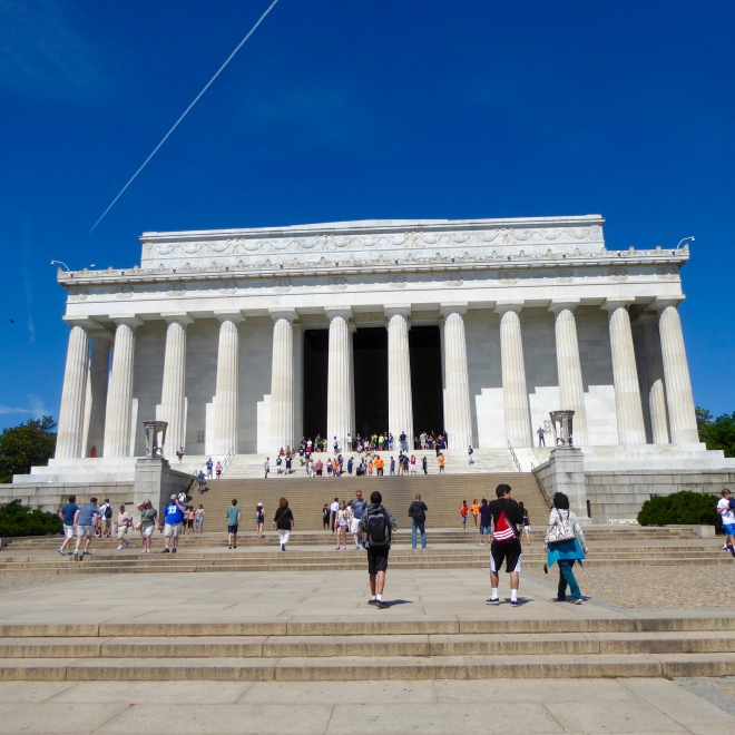 Steps to Lincoln Memorial