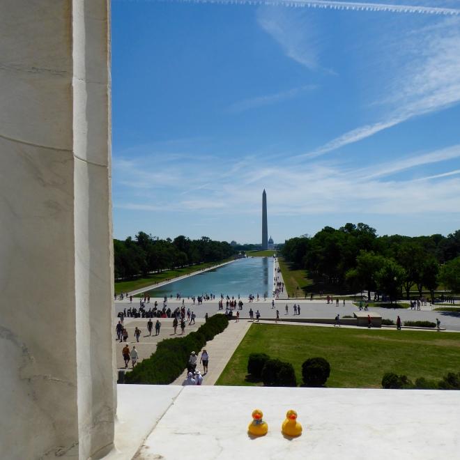 Toward Washington Monument over reflecting pool.