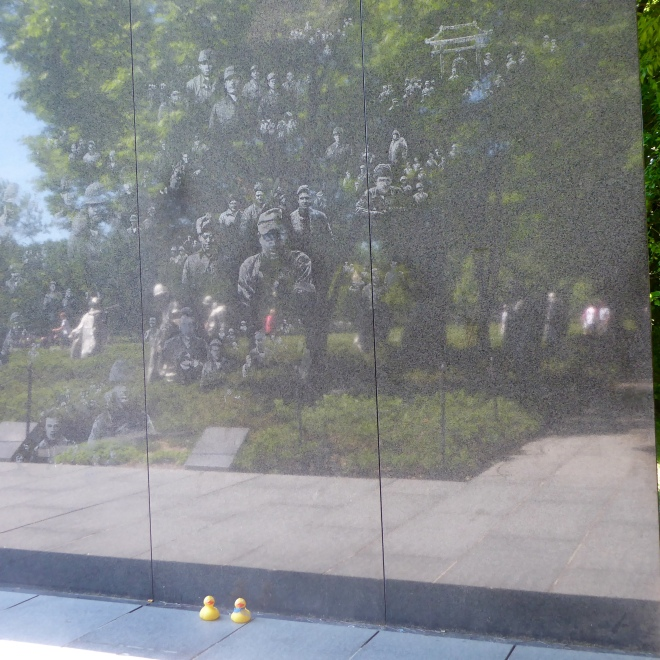 Korean Memorial, etched wall