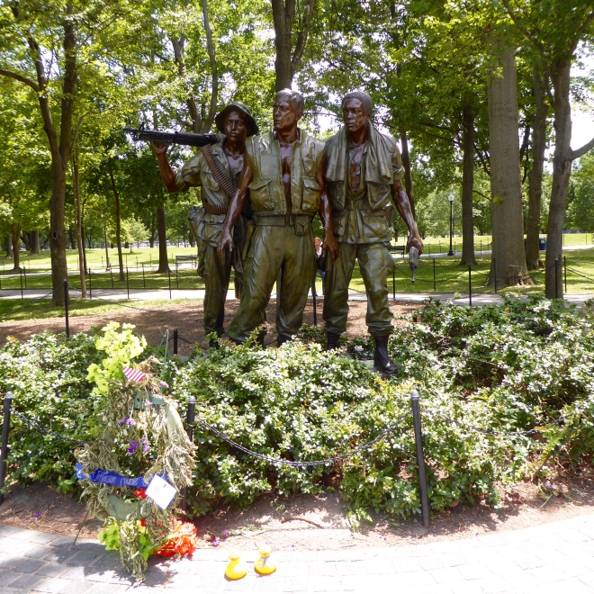 Three soldiers--Vietnam Memorial