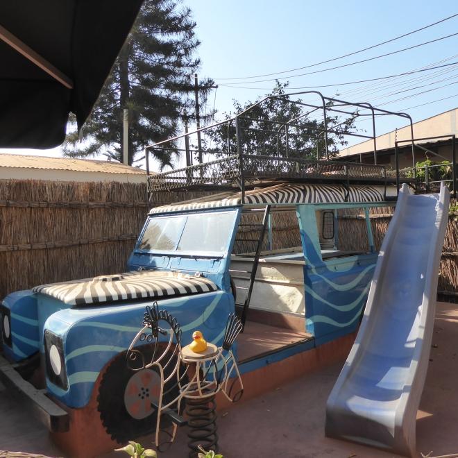 Safari vehicle at Kiboko Town Hotel in Lilongwe, Malawi