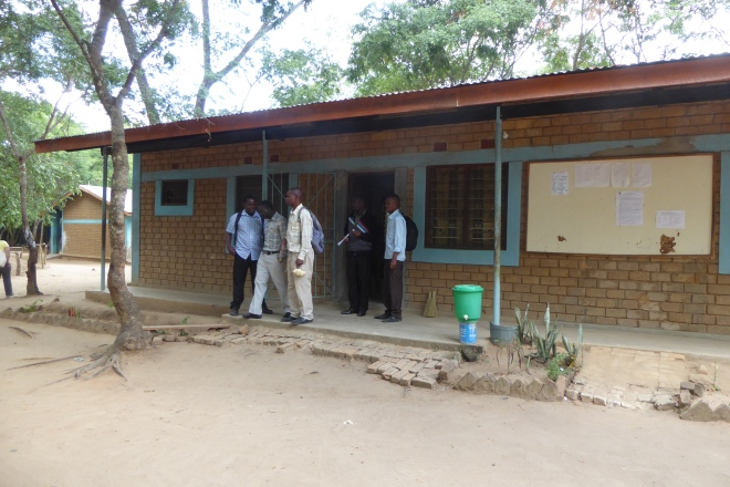 Secondary teachers by administration building