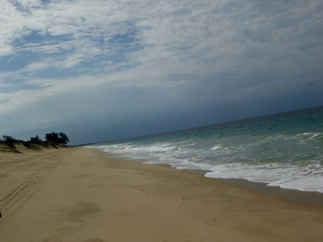 Indian Ocean from back of Bonnie