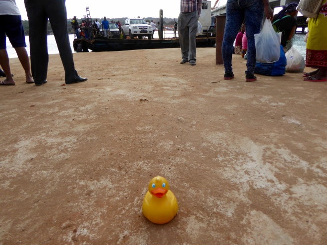 Waiting for the Nikomati River Ferry to go back to Maputo