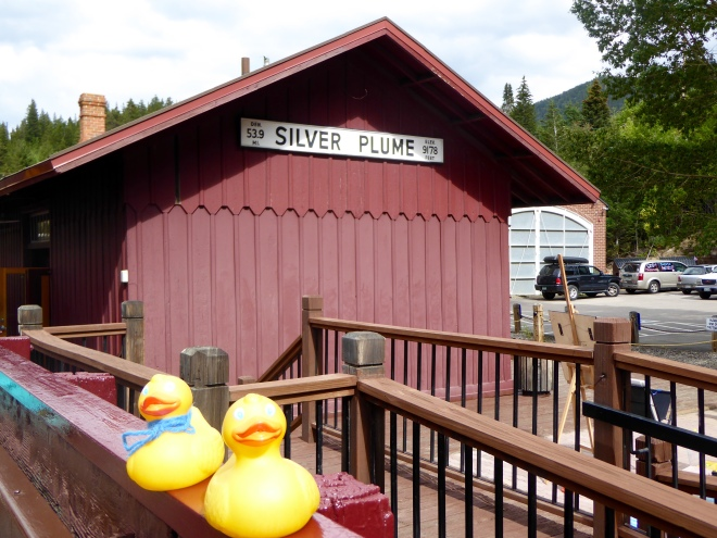 Arrival at Silver Plume Station
