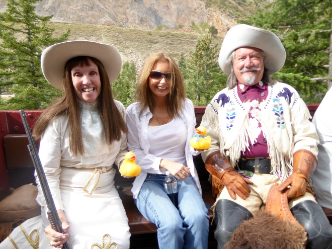 With Annie Oakley and Buffalo Bill