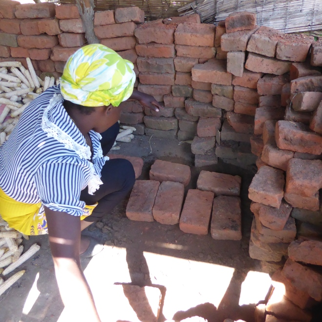 Selecting bricks for stove