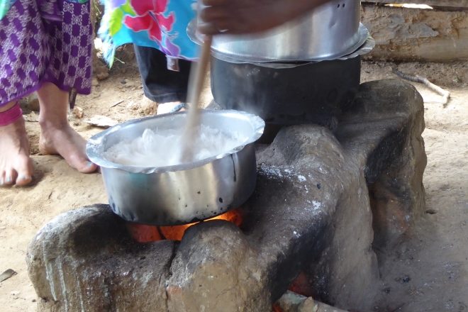Cooking cassava