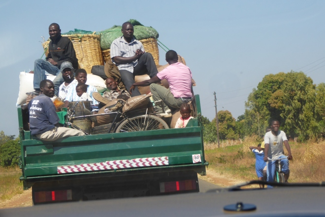 Riding through Malawi
