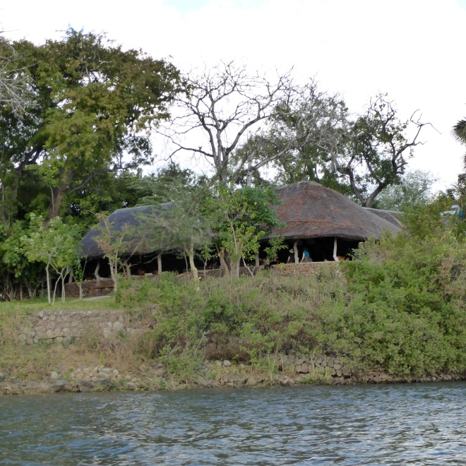 Lodge from river