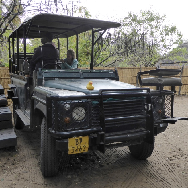 Our safari vehicle in Liwonde National Park