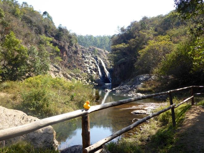 Beautiful waterfalls and river