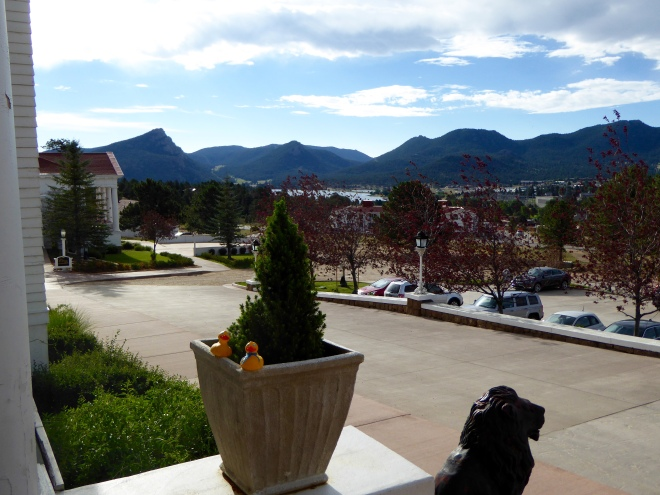 From Stanley Hotel view of Lake Estes and Colorado's Rocky Mountains